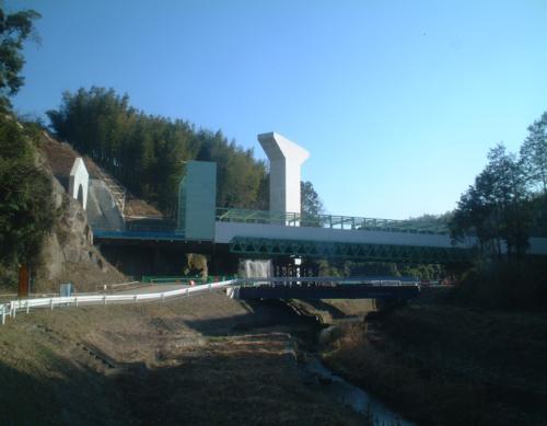 西浦橋P2橋脚(砂原四方寄線地域連携推進改築工事)