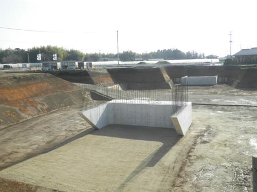 一般県道砂原四方寄線(花園工区)和泉4号線跨道橋下部工(A1,A2)工事