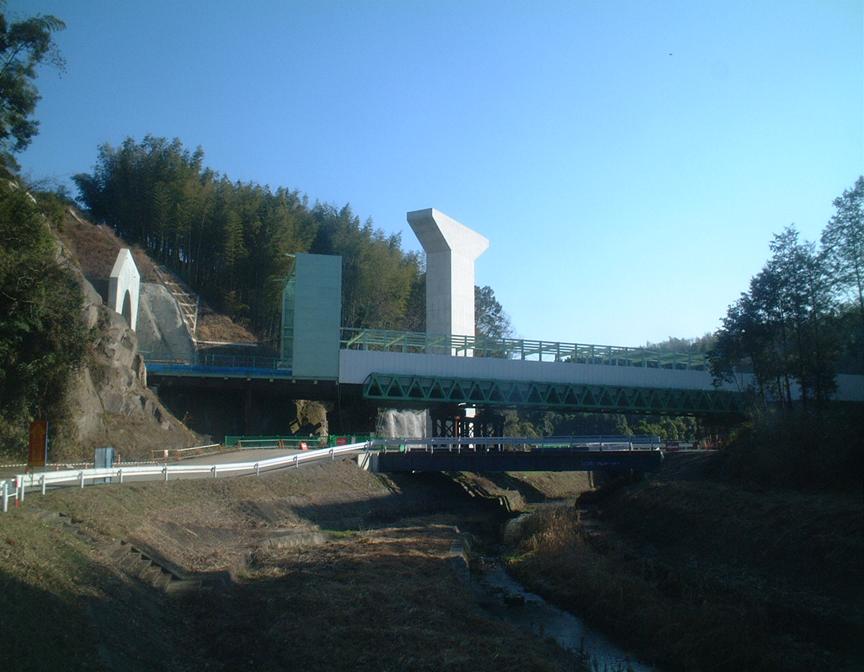 西浦橋P2橋脚工事