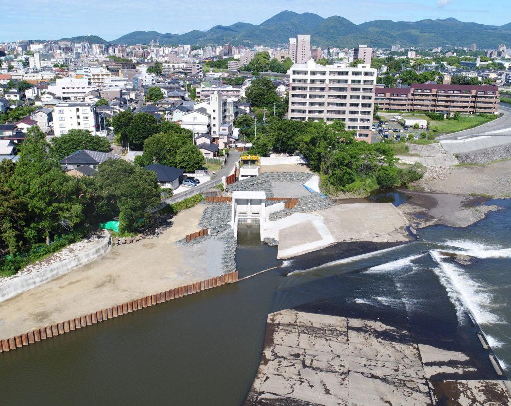 H30・白川渡鹿取水樋門工事